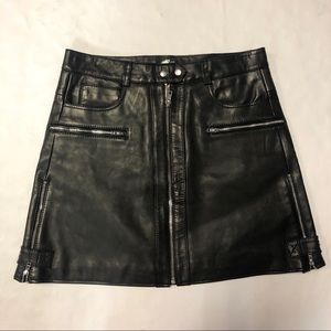 7 For All Mankind Leather Skirt